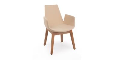Кресла мягкие деревянные