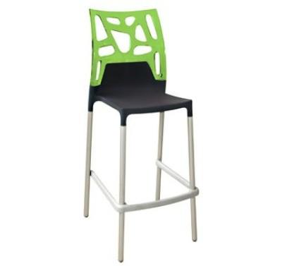 Барный стул EGO-Rok black-green