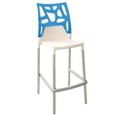 Барный стул EGO-Rok white-blue