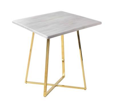 Стол обеденный Haku White Wood Gold